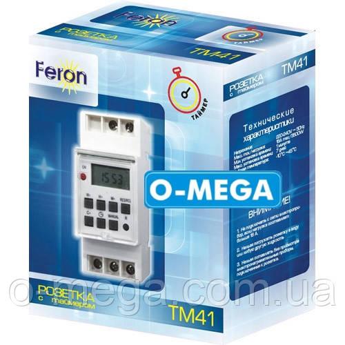 Таймер недельный Feron TM41 программируемый многофункциональный