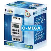 Таймер недельный Feron TM41 программируемый многофункциональный, фото 1