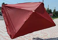 Зонт для торговли на улице и отдыха HZT/N-32: квадратный с клапаном, 2x2 м, 4 спицы