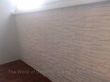 """Декоративная гипсовый камень, плитка """"Верона"""" Белая"""
