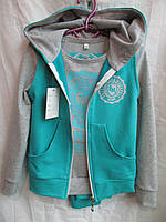Детский спортивный костюм  трикотаж на девочку купить в Одессе дёшево (р.от 6 до 10 лет) №1600-1