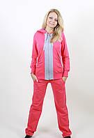 Трикотажный спортивный костюм 1231 розовый/серый