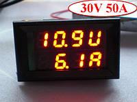 Цифровой вольтметр амперметр DC 0-30в 50a , 1 шт, фото 1