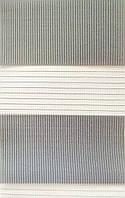 Тканевые ролеты День-ночь. №14 Светло-серый  60 см х 140 см. Готовые размеры.