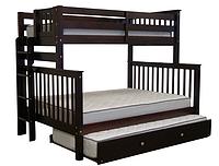 """Двухъярусная кровать """"Каролина"""" Венге с широким спальным местом, фото 1"""
