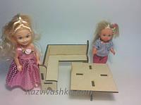 Кукольная мебель Кухонный уголок для кукол 10-15 см (под роспись, декупаж), фото 1