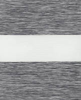 Тканинні ролети День-ніч.1501 Сірий 40 см х 170 див. Україна., фото 1