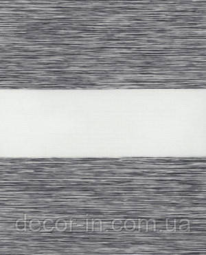 Тканевые ролеты День-ночь. 1501 Серый 50 см х 170 см. Готовые размеры.