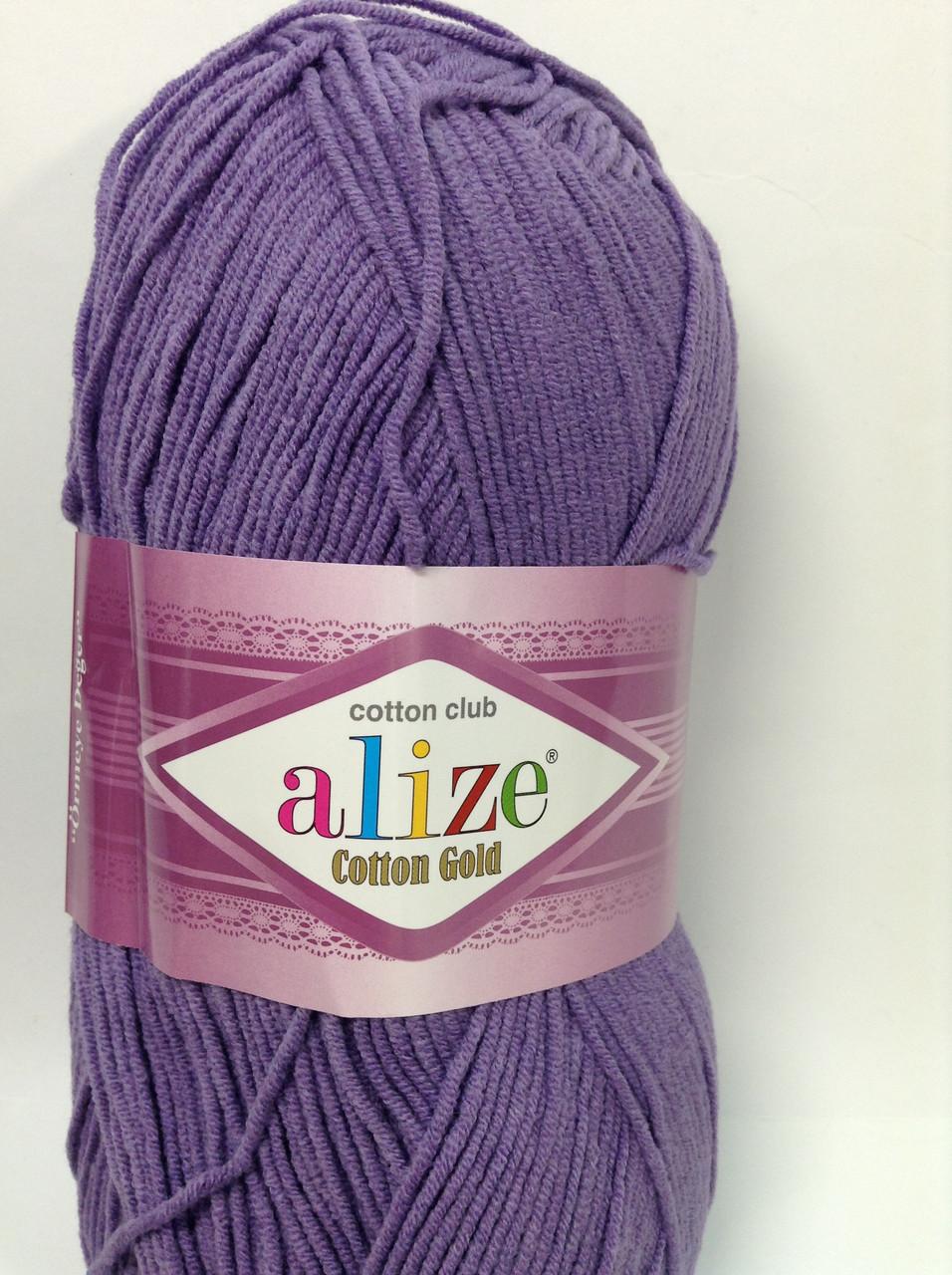 Пряжа cotton gold - цвет фиолетовый