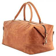Вместительная дорожная сумка из натуральной кожи европейского качества винтаж SHVIGEL 00513