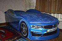 """Детская кровать машина """"BMW"""" синяя с матрасом, фото 1"""