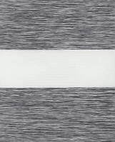 Тканевые ролеты День-ночь.  Серый 130 см х 170 см. Готовые размеры.