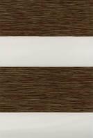 Тканевые ролеты День-ночь. 1503 Орех 65 см х 170 см. Готовые размеры.