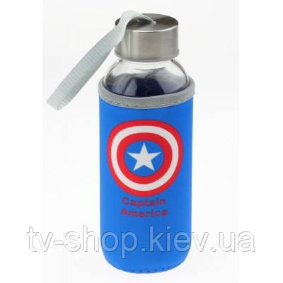 Бутылка для воды капитан Америка в термочехле,330 мл