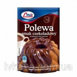 Шоколадная глазурь  Polewa smak czekoladowy Emix, 100 гр, фото 2