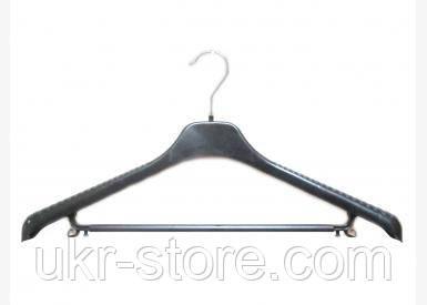 Плечики-вешалка цельная с перемычкой - 46 см