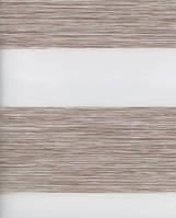 Тканевые ролеты День-ночь. Какао 57,5 см х 170 см. Готовые размеры. , фото 1
