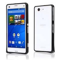 Бампер металлический Baseus Cross Case для Sony Xperia Z3 Compact D5803 Black