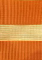 Тканевые ролеты День-ночь.№13 Морковный   60 см х 140 см. Готовые размеры.