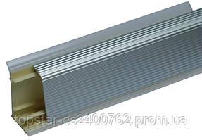Отбортовка алюминиевая рифленая Scilm H=45 L=4000 алюм.