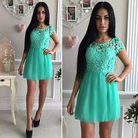 be360b78097107c Платье летнее яркое короткое с кружевным верхом разные цвета SMok341