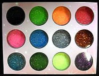 Песок цветной набор С 12 шт. уп.