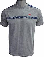 Мужская футболка Адидас серая, футболка Adidas