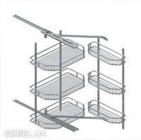 S - 8411, набор для ванной комнаты, установка на фасад,  250х300х560мм, хром