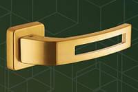 Ручка  дверная 513020-302 mp18, kare yale (квадрат улица), мат. золото