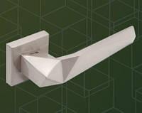 Ручка  дверная  527010-303 mp19, kare WC (квадрат WC), сталь шлиф.