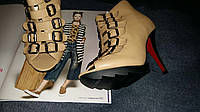 Ботиночки с заклепками Jessica открытый носок