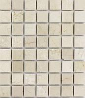 Бежевая мозаика из натурального мрамора Vivacer SPT018