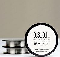 Плоский кантал 0,1х0,3 мм