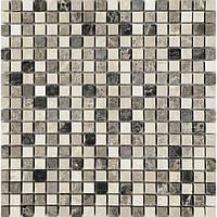 Мраморная мозаика коричневая с бежевым Vivacer SPT019