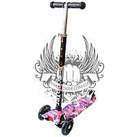 Самокат детский 3-х колёсный Scooter Millitary Pink