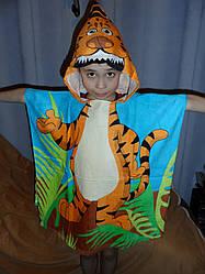 Полотенце-пончо с капюшоном Тигра