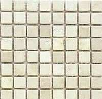 Бежевая мозаика из натурального мрамора Vivacer SPT021