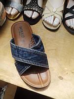 Мужские летние джинсовые шлепки