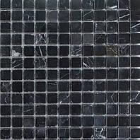 Черная мозаика из натурального мрамора Vivacer SPT022