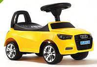 Каталка-толокар машинка Bambi Audi (ауди) желтая