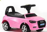 Каталка-толокар машинка Bambi Audi (ауди) розовая