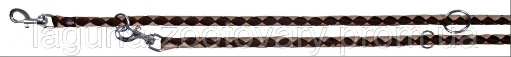 "Круглый поводок-перестежка ""КАВО"" для собак, 2 карабина (нейлон) 2м/12мм, синий/розовый, фото 2"