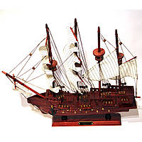 Модель парусного корабля деревянная 50 см парусник из дерева San Francisco 5001
