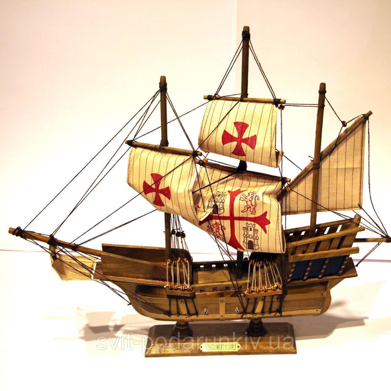 Модель корабля из дерева 50 см SANTA MARIA 1492