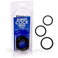Комплект колец для члена Rubber Cock Ring 3-pack