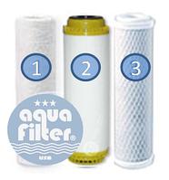 Комплект фильтров Aquafilter № 3 для жесткой воды