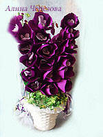 """Букет из конфет""""Корзина орхидей"""""""