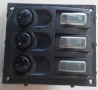 Панель на 3 выключателя постоянного тока с предохранителями