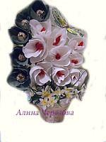 """Букет из конфет""""Магнолия и орхидеи"""""""