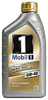 Моторное масло MOBIL 1 NEW LIFE 0W40, 1 л
